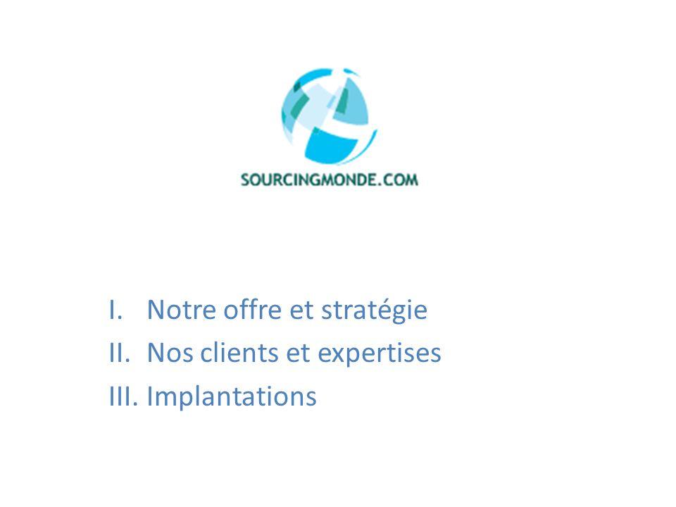Notre offre et stratégie Nos clients et expertises Implantations