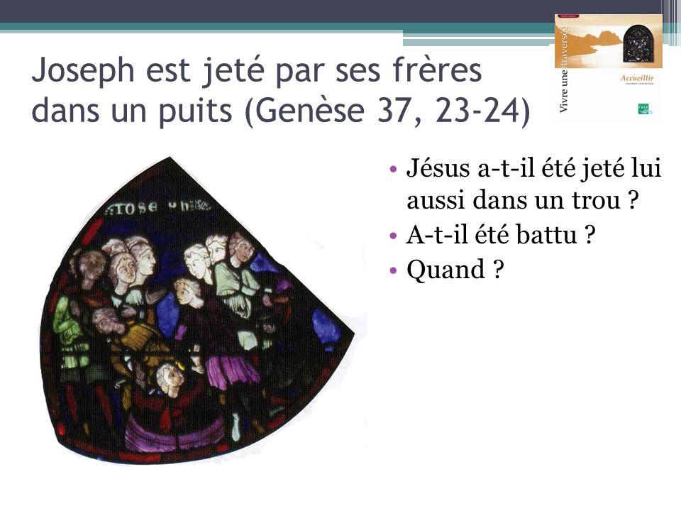 Joseph est jeté par ses frères dans un puits (Genèse 37, 23-24)
