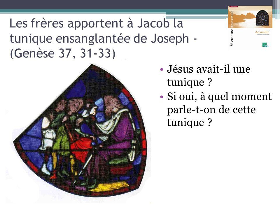 Les frères apportent à Jacob la tunique ensanglantée de Joseph - (Genèse 37, 31-33)