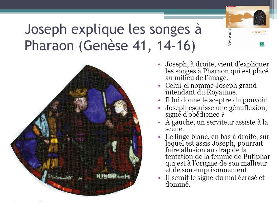 Joseph explique les songes à Pharaon (Genèse 41, 14-16)