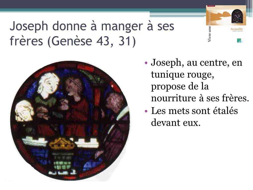 Joseph donne à manger à ses frères (Genèse 43, 31)