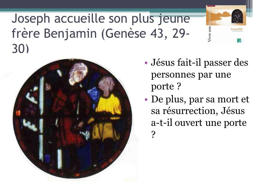 Joseph accueille son plus jeune frère Benjamin (Genèse 43, 29-30)