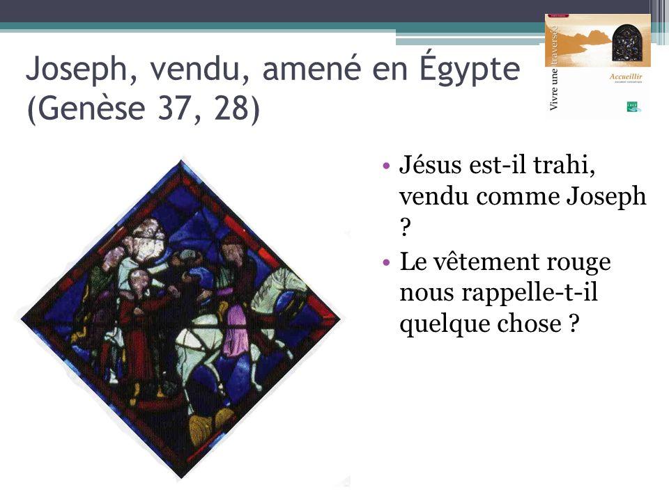 Joseph, vendu, amené en Égypte (Genèse 37, 28)