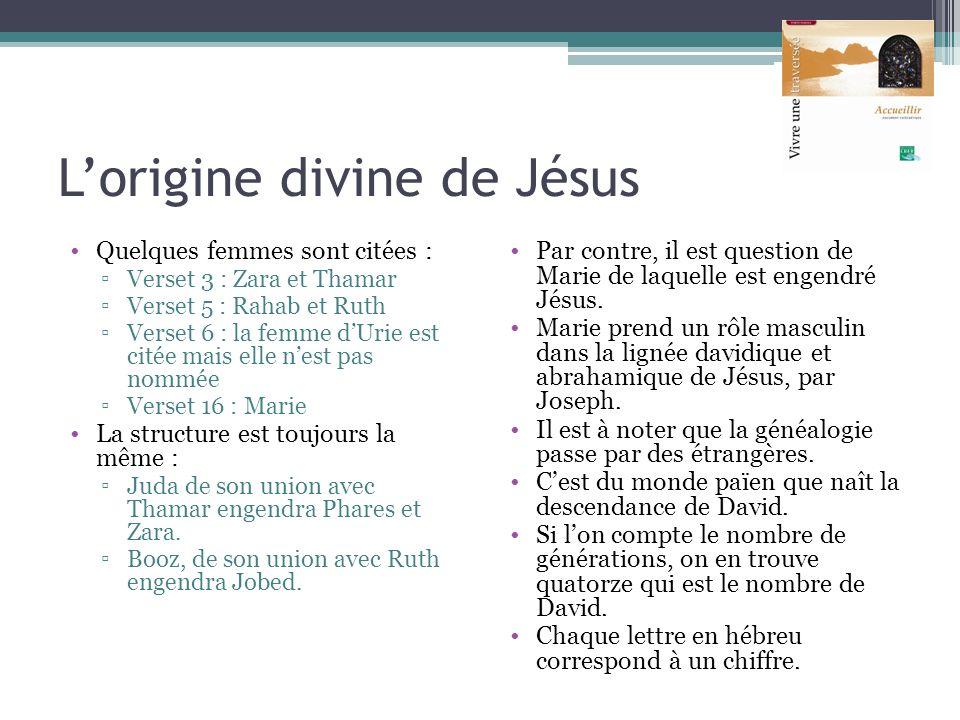 L'origine divine de Jésus