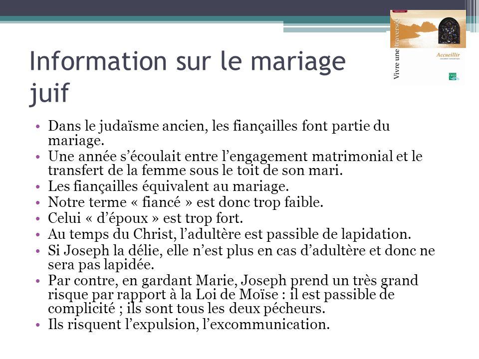Information sur le mariage juif