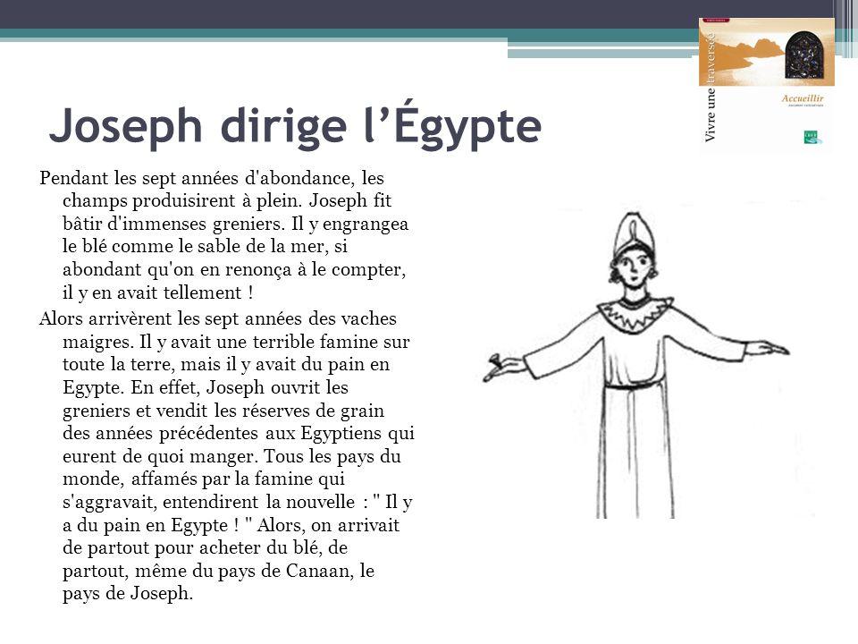 Joseph dirige l'Égypte