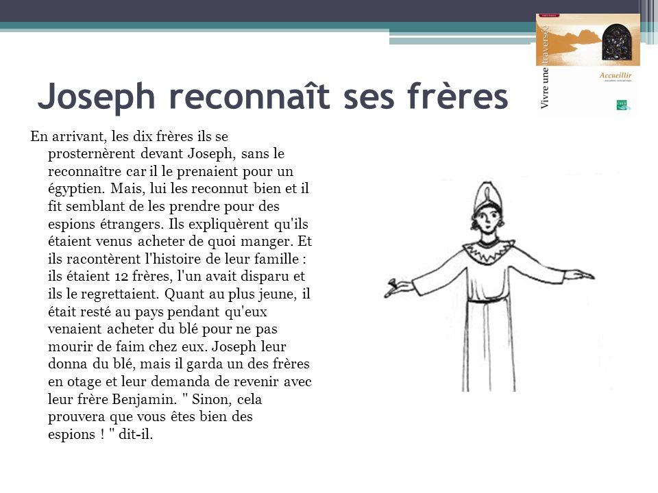 Joseph reconnaît ses frères