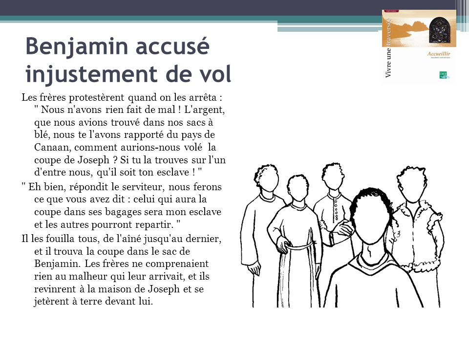 Benjamin accusé injustement de vol