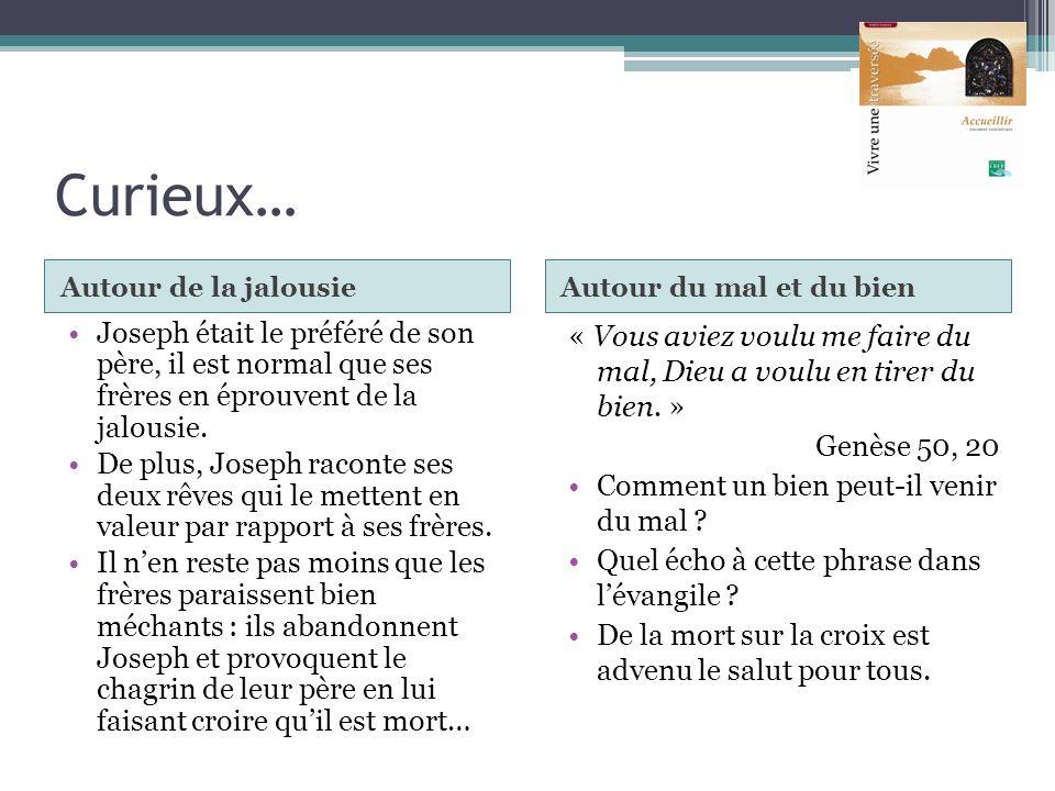 Curieux… Autour de la jalousie. Autour du mal et du bien.