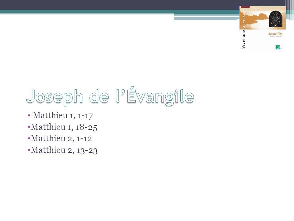 Joseph de l'Évangile Matthieu 1, 1-17 Matthieu 1, 18-25