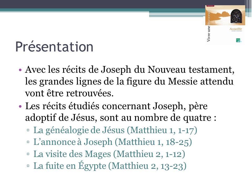 Présentation Avec les récits de Joseph du Nouveau testament, les grandes lignes de la figure du Messie attendu vont être retrouvées.