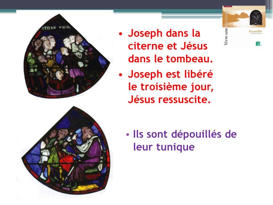 Joseph dans la citerne et Jésus dans le tombeau.