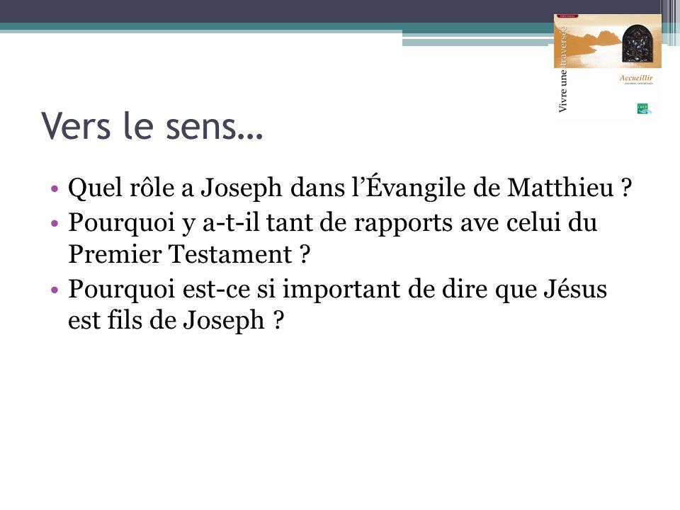 Vers le sens… Quel rôle a Joseph dans l'Évangile de Matthieu