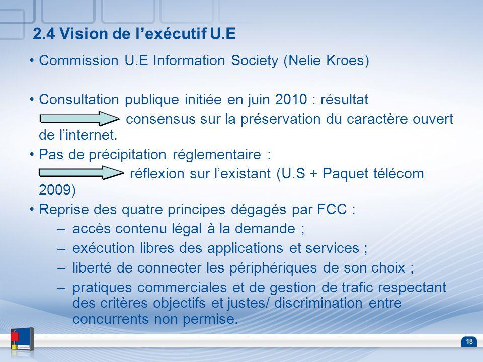2.4 Vision de l'exécutif U.E