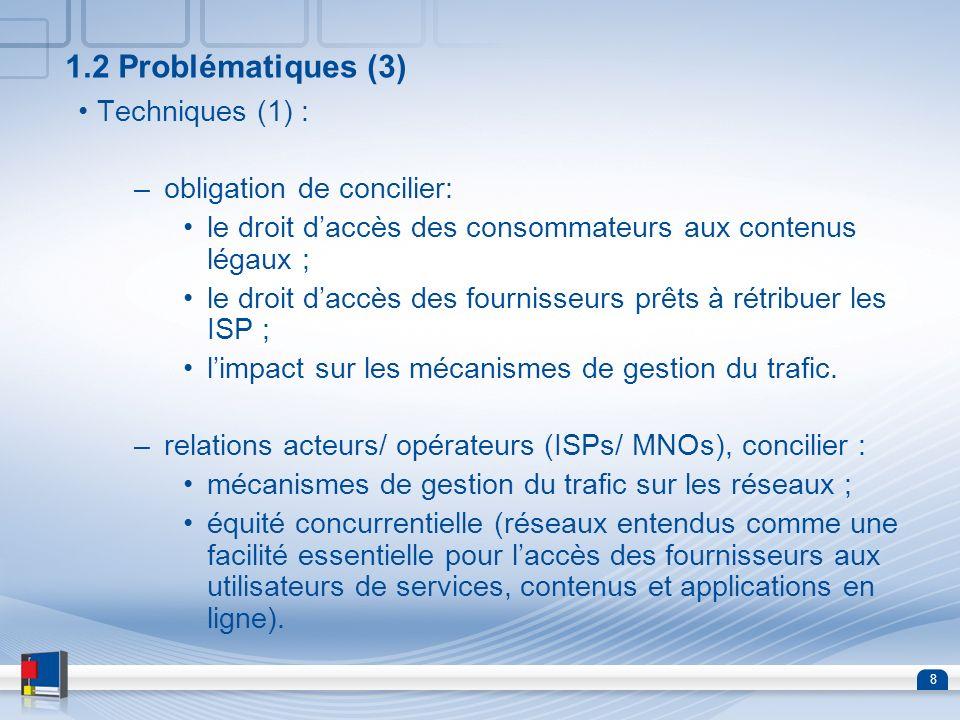 1.2 Problématiques (3) Techniques (1) : obligation de concilier: