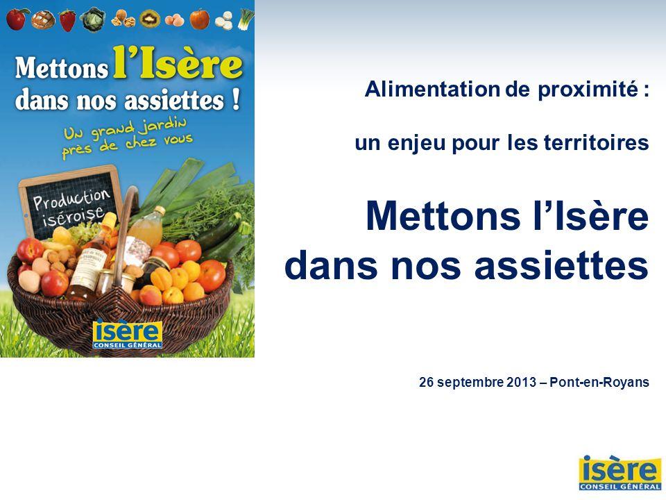Mettons l'Isère dans nos assiettes Alimentation de proximité :