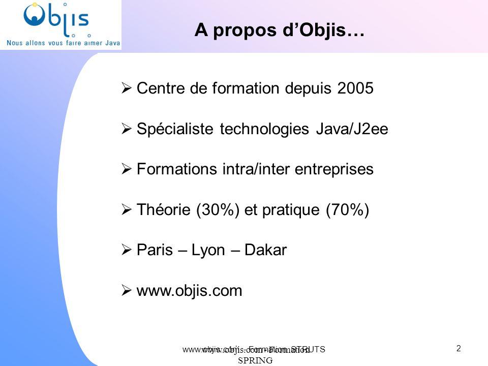 A propos d'Objis… Centre de formation depuis 2005