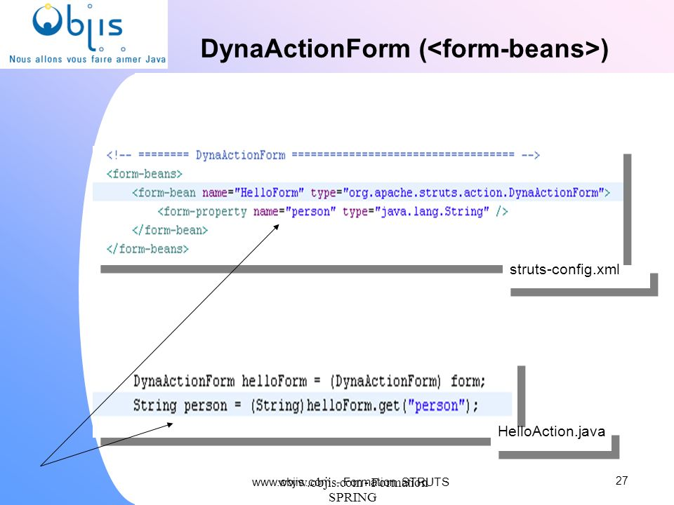 DynaActionForm (<form-beans>)‏