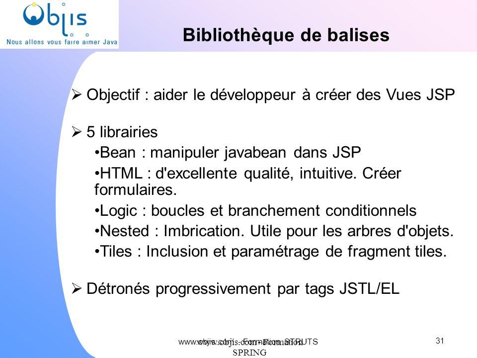 Bibliothèque de balises