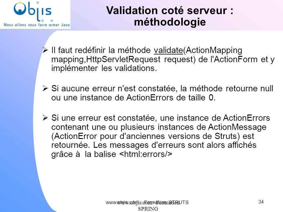 Validation coté serveur : méthodologie