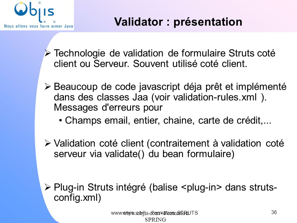Validator : présentation