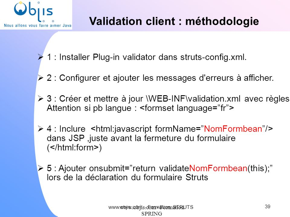 Validation client : méthodologie