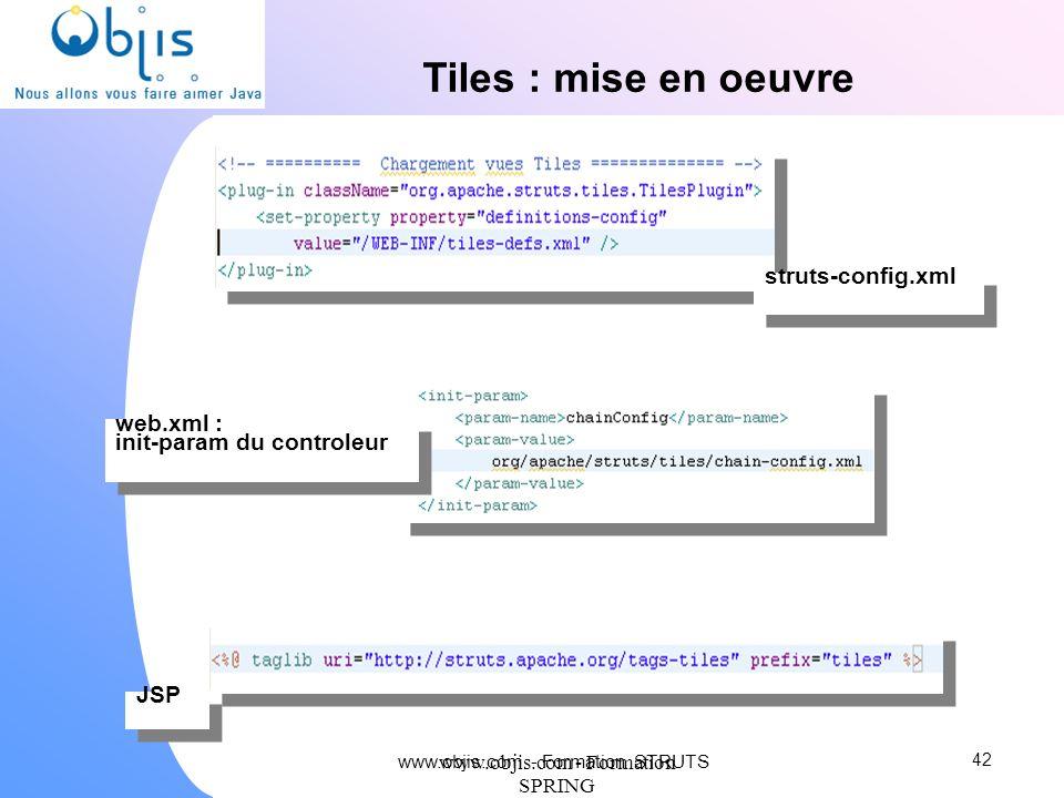 Tiles : mise en oeuvre struts-config.xml