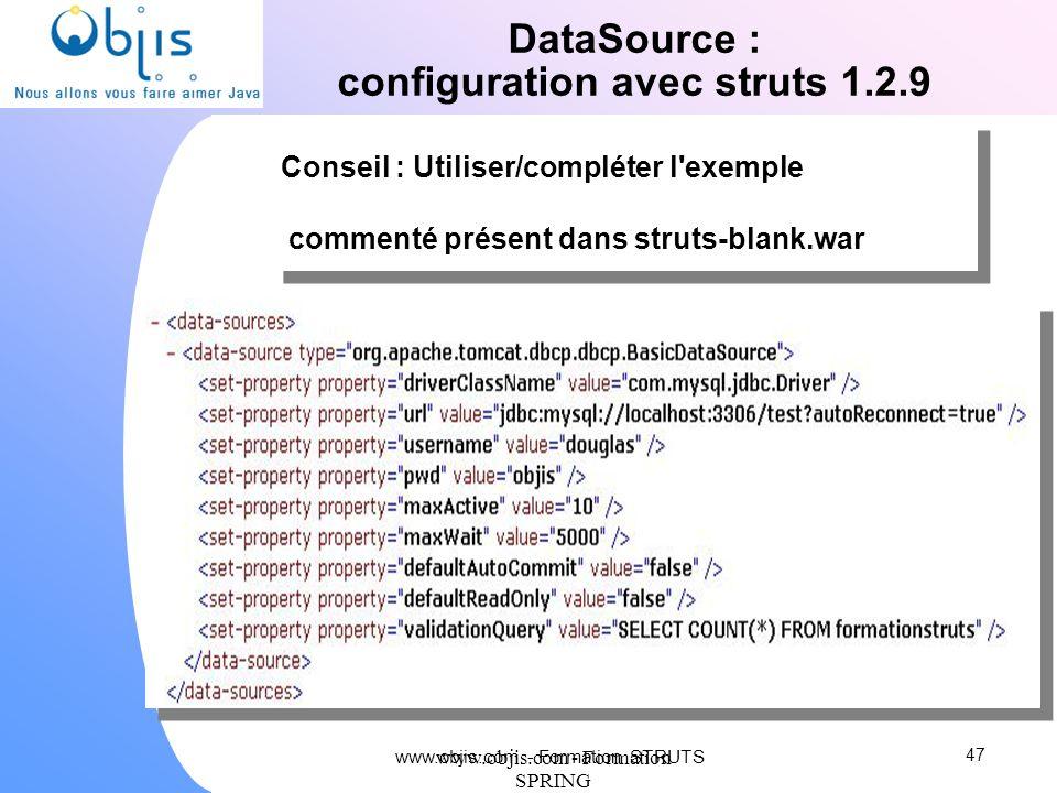 configuration avec struts 1.2.9