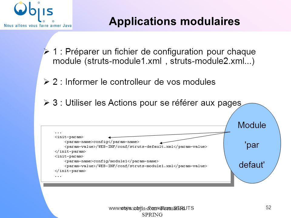 Applications modulaires