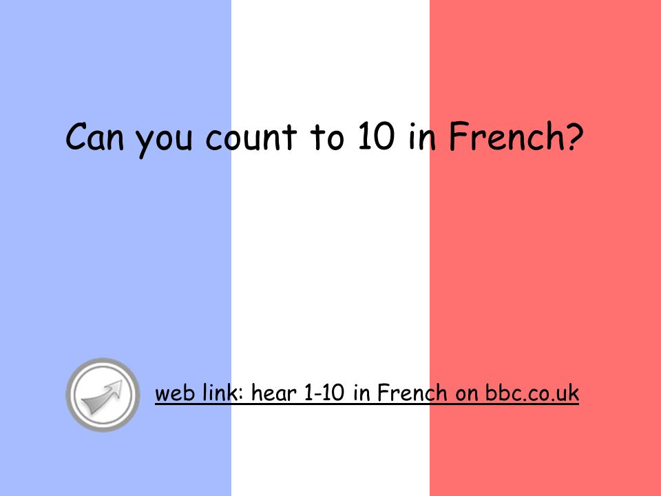 Can you count to 10 in French