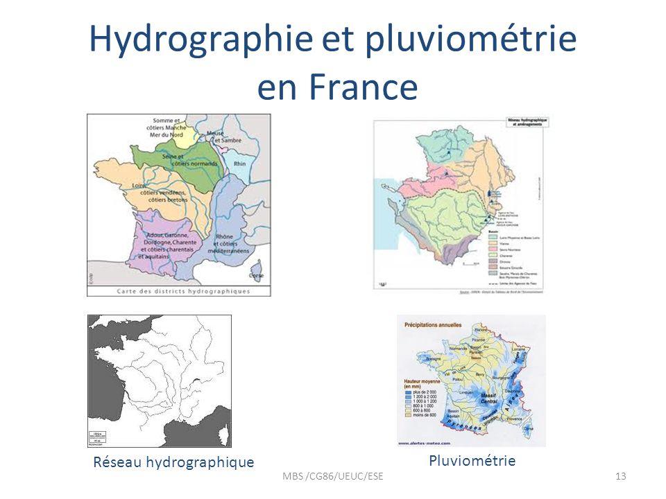 Hydrographie et pluviométrie en France