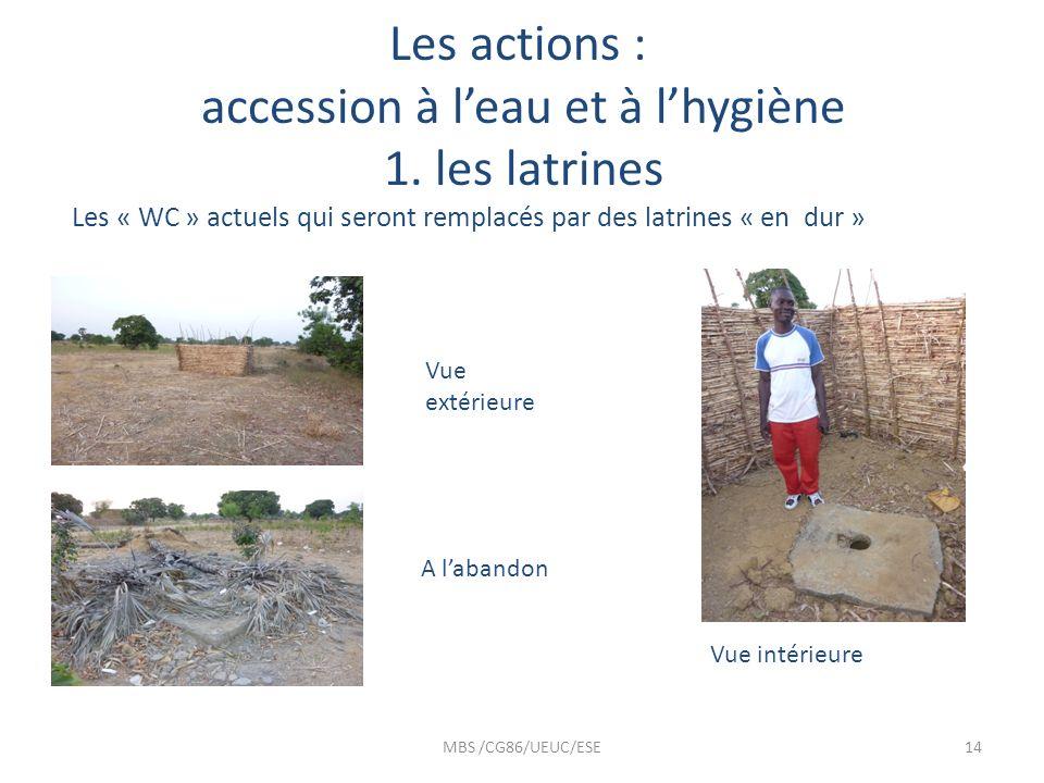 Les actions : accession à l'eau et à l'hygiène 1. les latrines