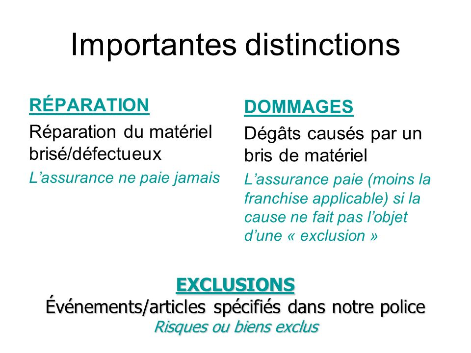 Importantes distinctions