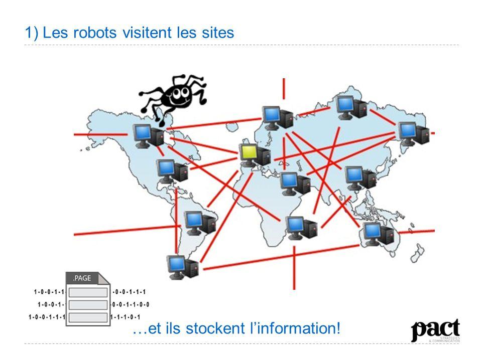 1) Les robots visitent les sites