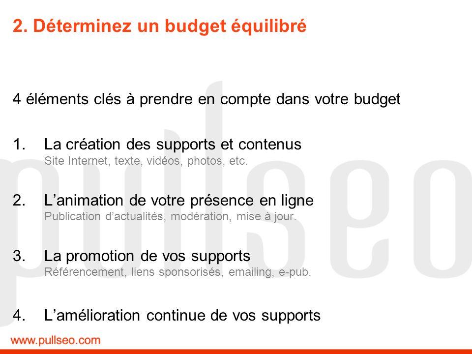 2. Déterminez un budget équilibré