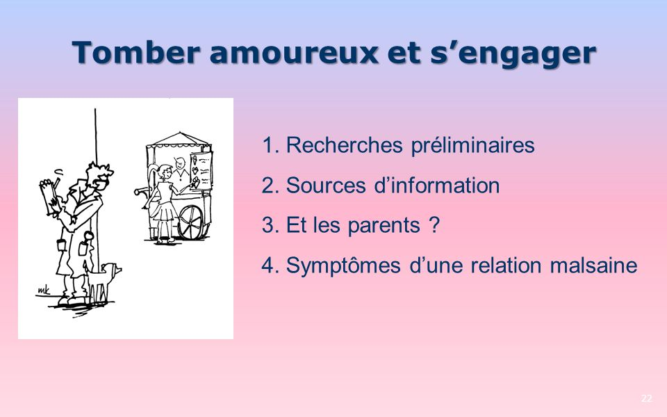 Tomber amoureux et s'engager