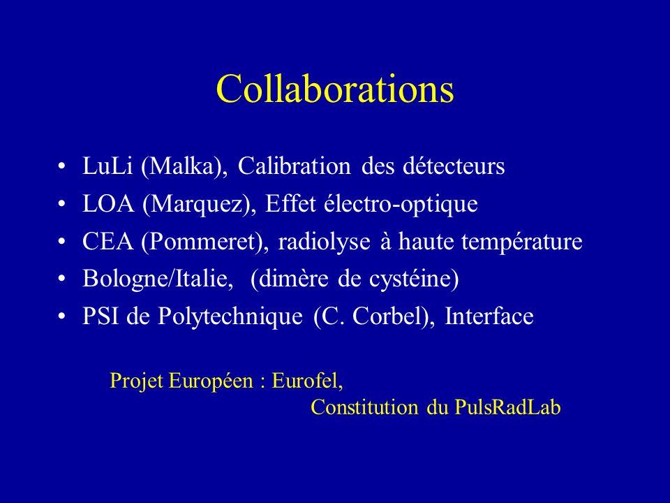Collaborations LuLi (Malka), Calibration des détecteurs