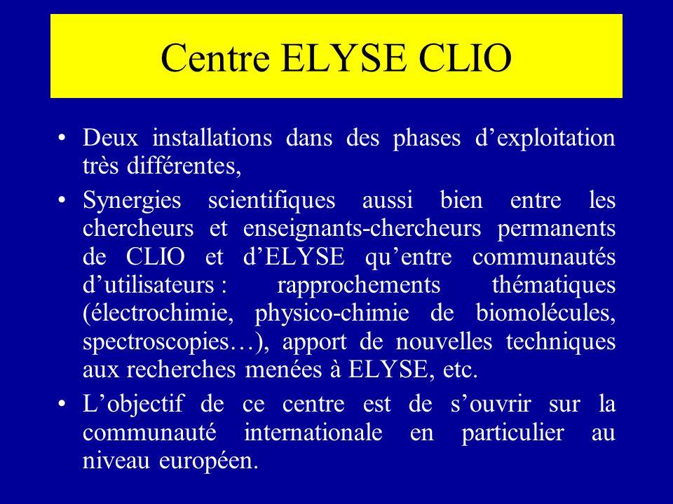 Centre ELYSE CLIO Deux installations dans des phases d'exploitation très différentes,