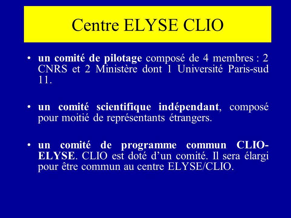 Centre ELYSE CLIO un comité de pilotage composé de 4 membres : 2 CNRS et 2 Ministère dont 1 Université Paris-sud 11.
