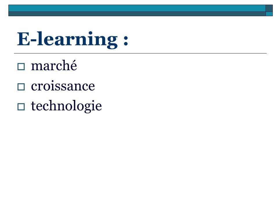 E-learning : marché croissance technologie
