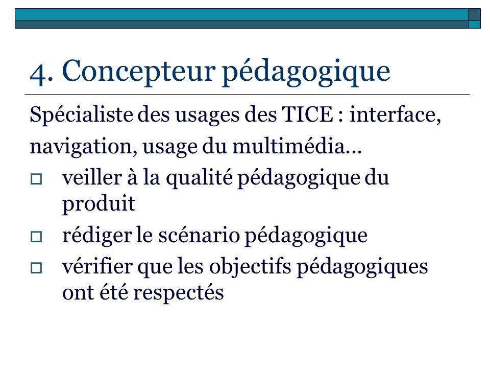 4. Concepteur pédagogique