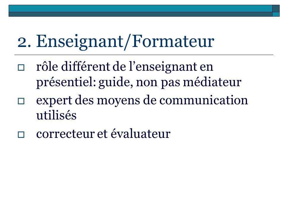 2. Enseignant/Formateur