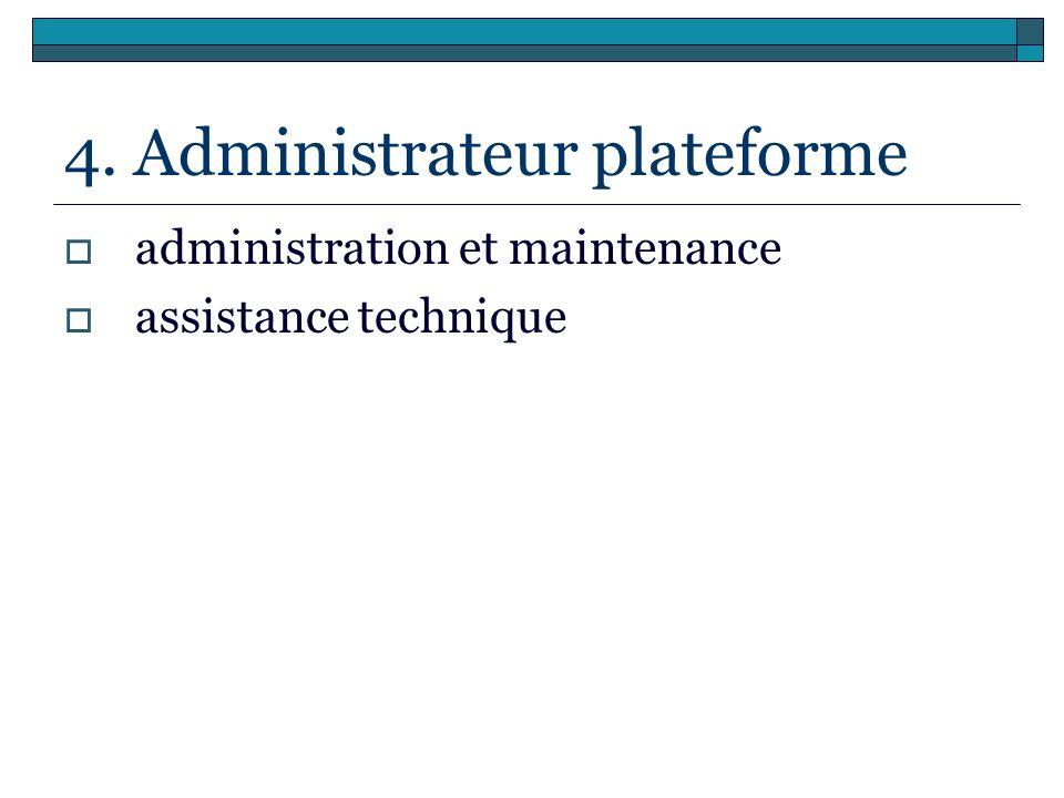 4. Administrateur plateforme
