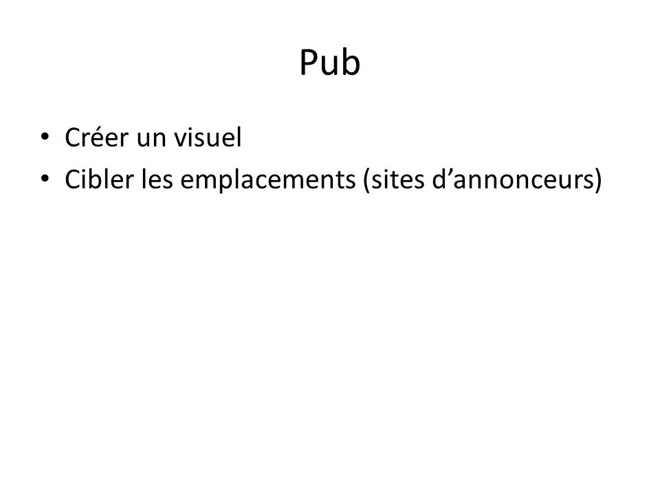 Pub Créer un visuel Cibler les emplacements (sites d'annonceurs)