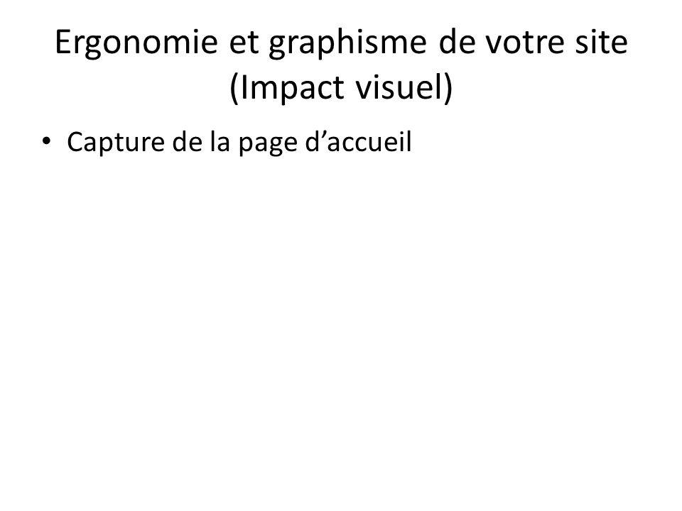 Ergonomie et graphisme de votre site (Impact visuel)