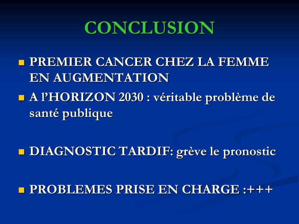 CONCLUSION PREMIER CANCER CHEZ LA FEMME EN AUGMENTATION