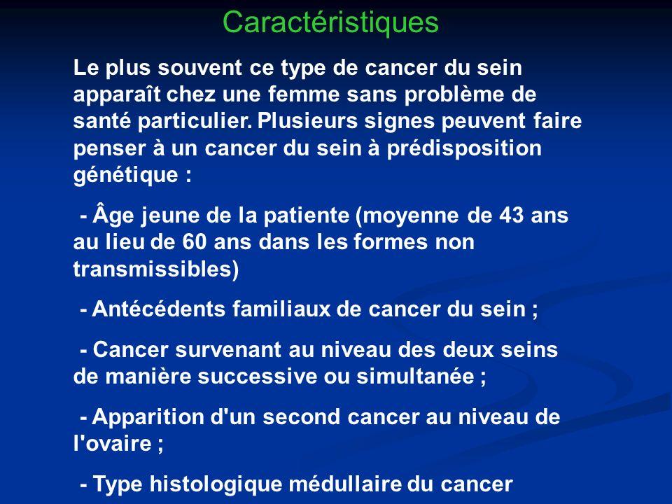 - Antécédents familiaux de cancer du sein ;