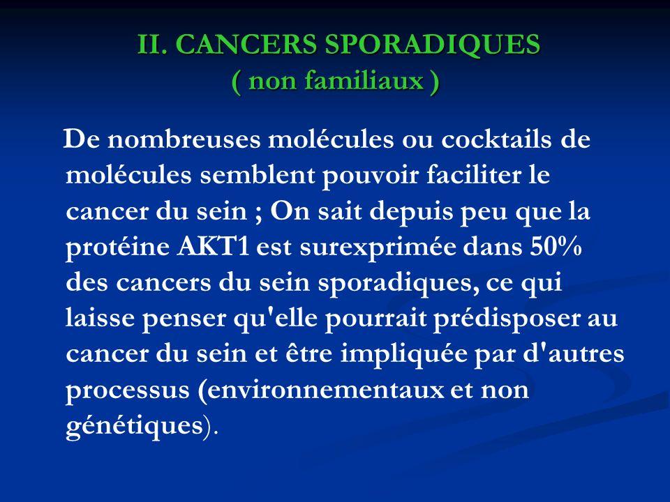 II. CANCERS SPORADIQUES ( non familiaux )