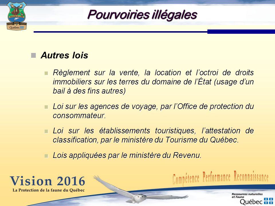 Pourvoiries illégales