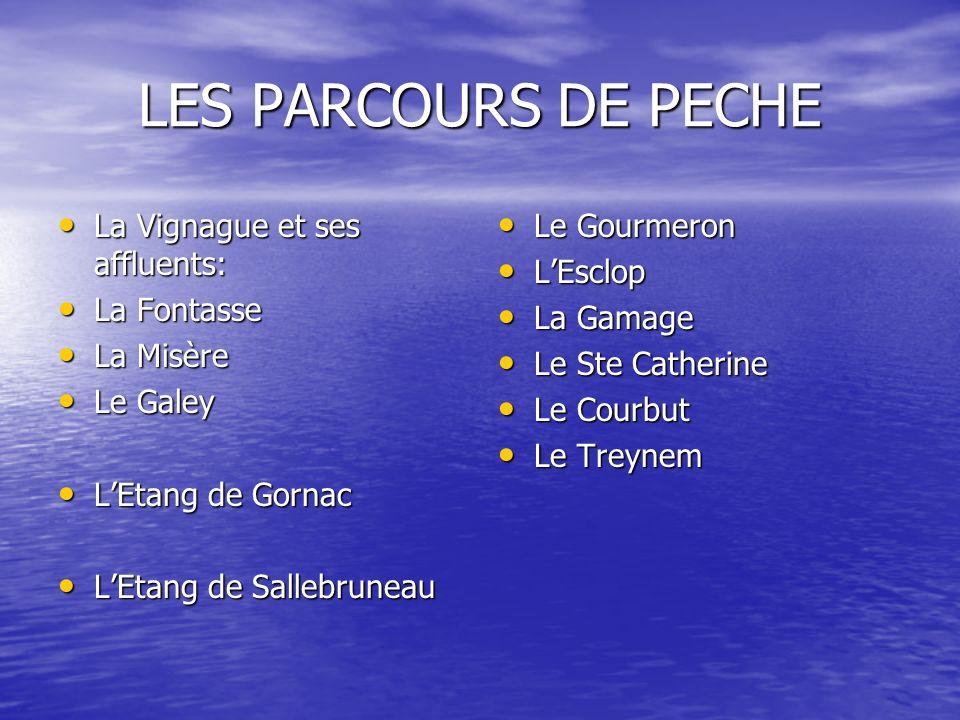 LES PARCOURS DE PECHE La Vignague et ses affluents: La Fontasse